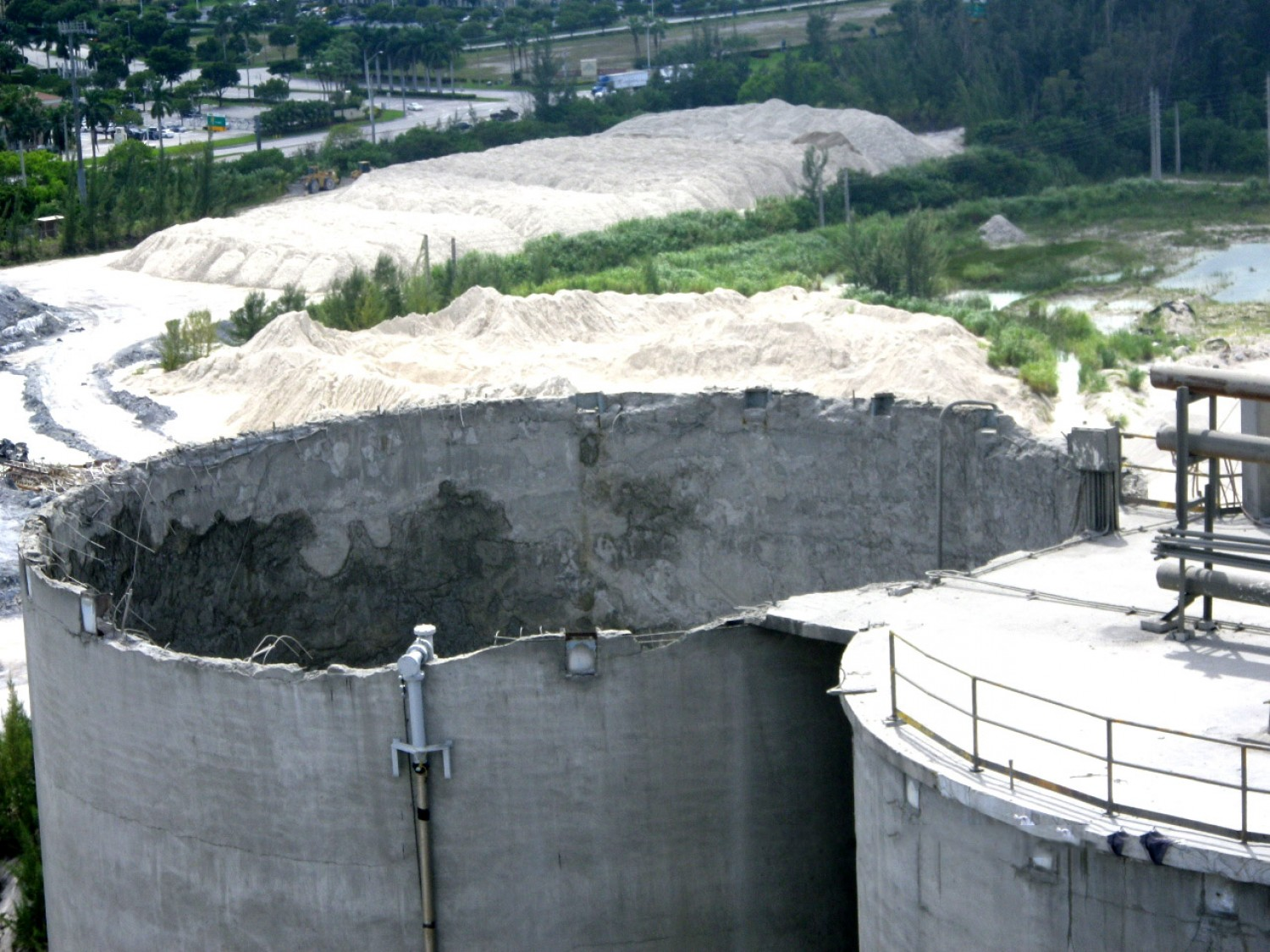 View Of Collapsed Silo Roof